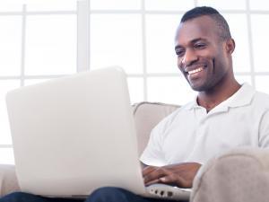 satellite class on laptop