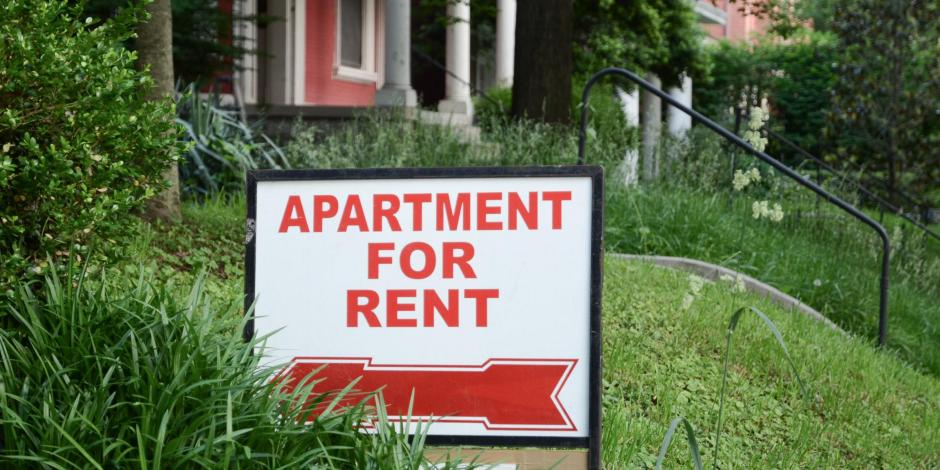 apartment rental sign