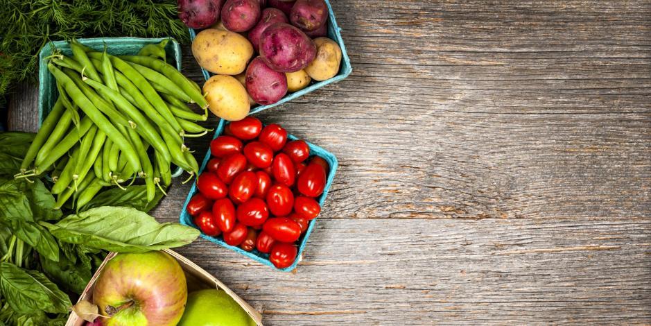 fresh produce table